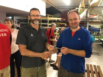 Tuesday 5th March 2019 : Tonight's photo shows club member Alan Ings presenting Keiran English with the winners movie voucher