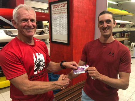 Tuesday 3rd December 2019 : Tonight's photo shows club committee member Ken Ringrose presenting Matt Jacob with the winners movie voucher.