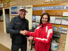 Tuesday 19th May 2020 : Tonight's photo shows Christine McCafferty presenting David Urquhart with a movie voucher.