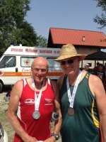 August 2013 : Jerry Alderson (CRCC) and Sven Jorgensen (Denmark) won Gold at the 2013 Masters games in Turin Italy