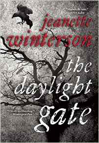 Book cover depicting a gray landscape, black tree and birds. The author's name is red, the title white, both all lowercase text.