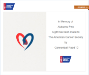 First CBR10 Donation to the American Cancer Society