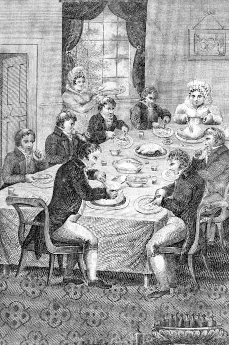 Typical Georgian dining scene