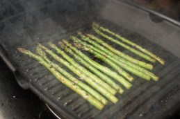 Grilling the asparagus