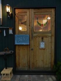 店舗入口 イギリスアンティークのステンドグラス