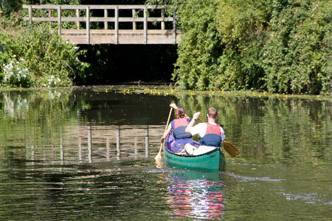 Canoe on the River Medway