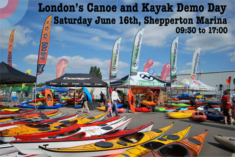 London Canoe and Kayak Demo Day at Shepperton Marina