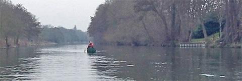 Canoeing on the Thames near Shepperton