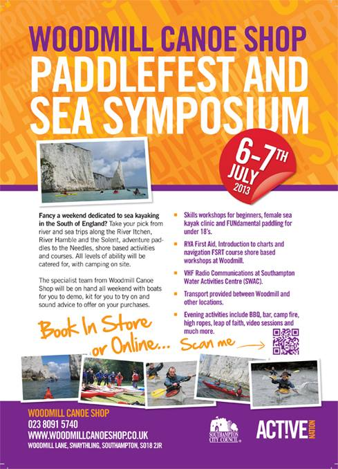 Southampton Sea Kayak Symposium 2013 poster