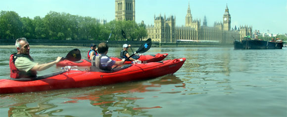 Family's Afloat with Kayaking London - visit Big Ben with the kids, by river!