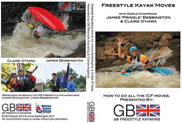 Freestyle Kayak Moves DVD - how to do all the ICF moves! With World Champions James 'Pringle' Bebbington and Claire O'Hara.