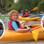 Canoe and kayak fun for children in London during the summer holidays