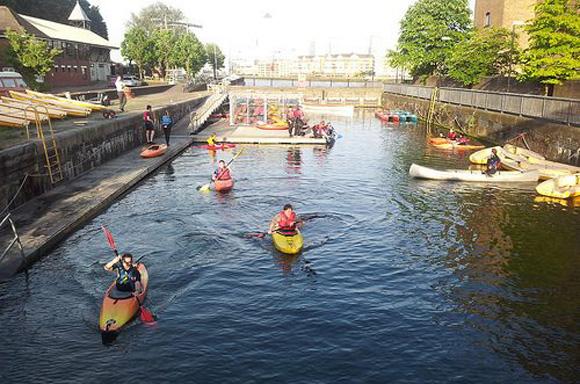 Tower Hamlets Canoe Club at Shadwell Basin, London