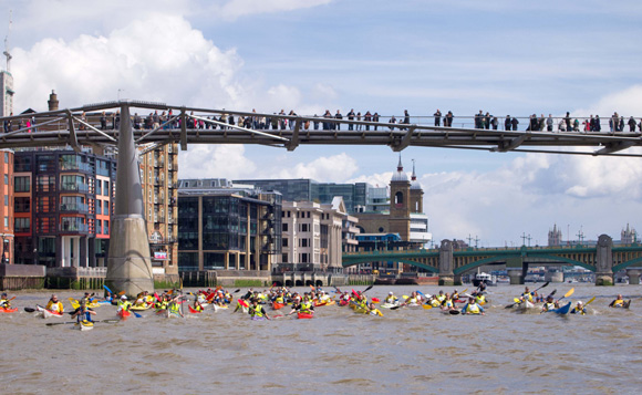 Kayakathon 2014 on River Thames in London