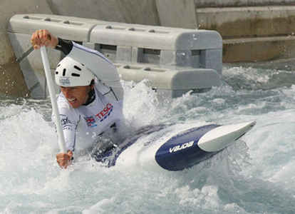 David Florence of Team GB at Lee Valley. Image credit: Barbara Schraml
