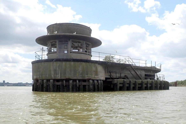 Derelict pier off Beckton