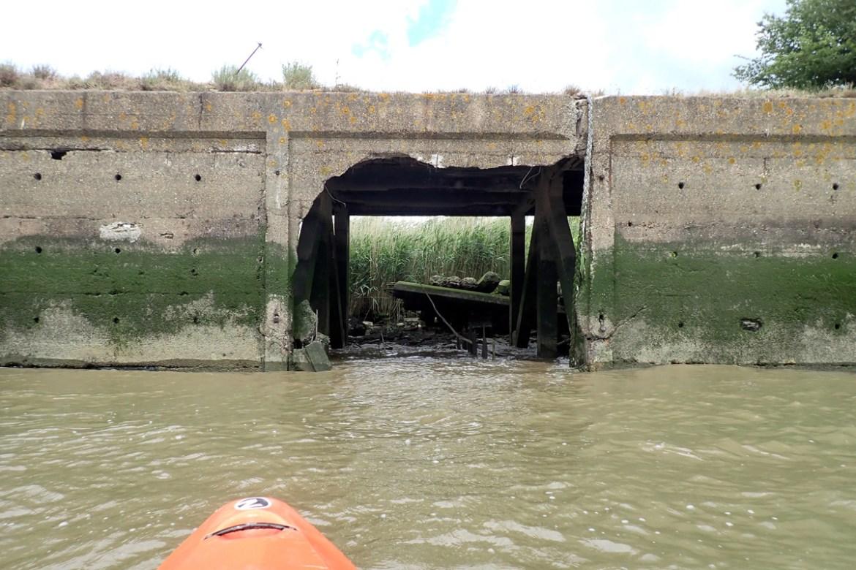 Broken Thames wharf
