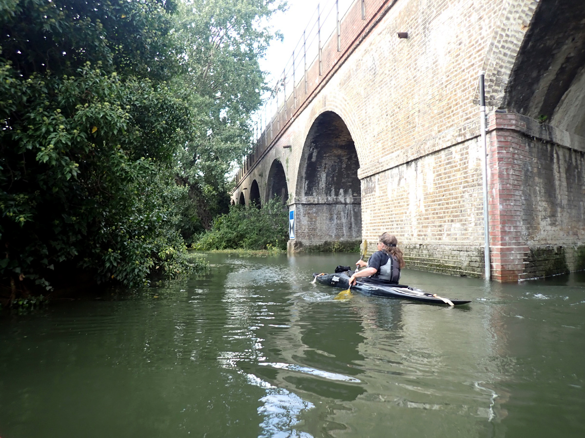 Railway arches and the River Cray
