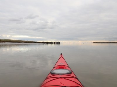 Sea kayaking around Canvey Island in the Thames Estuary