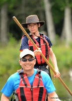 First time canoe poling