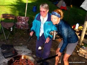 Jean and Tammi Allagash Cooking