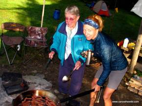 Jean and Tammi Allagash Cooking