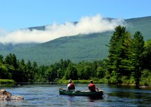 Maine canoe trips, East Branch Penobscot River, Maine, guided