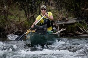 Bonaventure-River-Canoe-Trip-solo-paddling