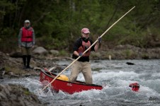 Bonaventure-River-Canoe-Trip-poling-the-gorge
