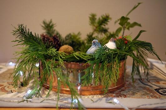 クリスマスの緑
