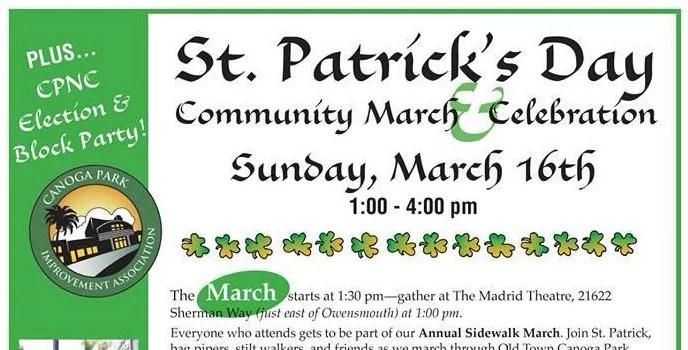 St. Patrick's Day Community March & Celebration — Plus CPNC Election Block Party!