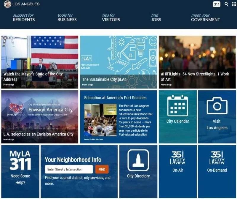 Los Angeles Unveils New City Website