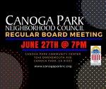 Canoga Park NC Board Meeting June 27th