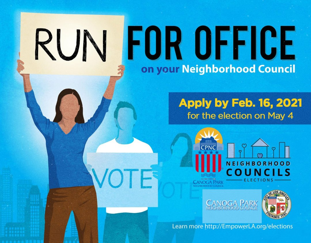 Candidate Filing Now Open for Joining the Canoga Park Neighborhood Council Board