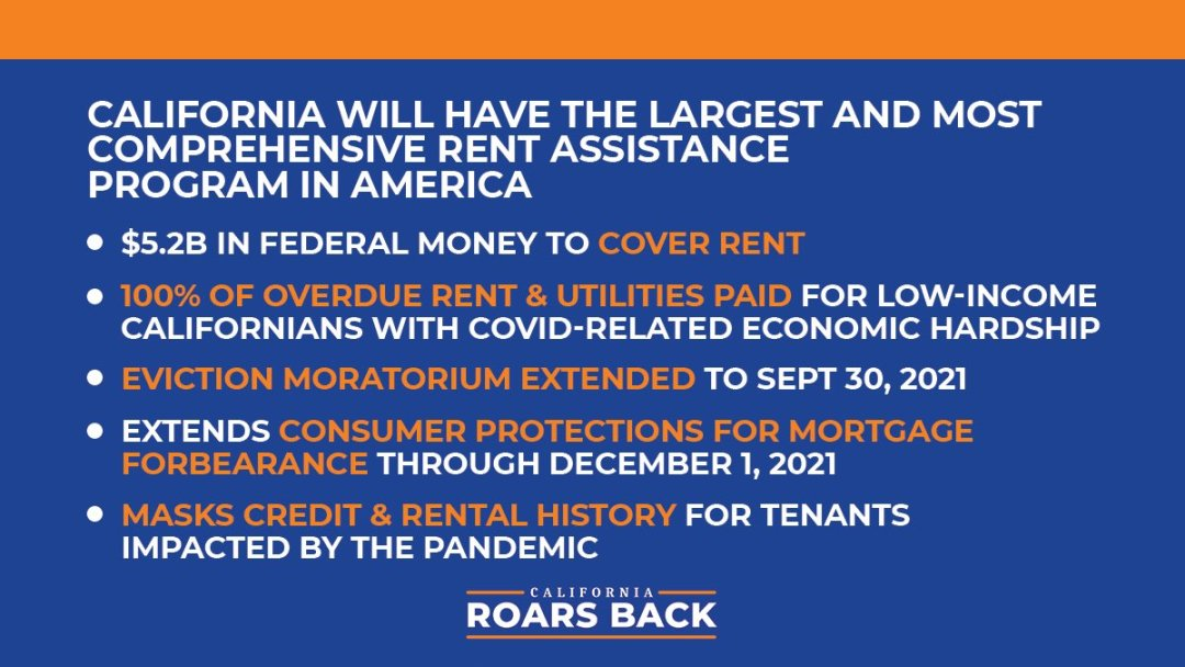 California Moratorium Extended and COVID-19 Rent Relief –APPLY NOW!