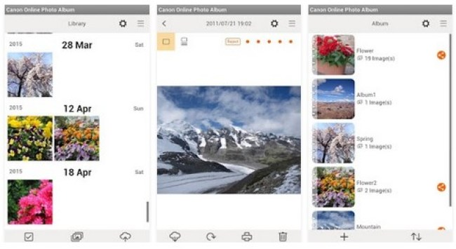 Canon Online Photo Album App