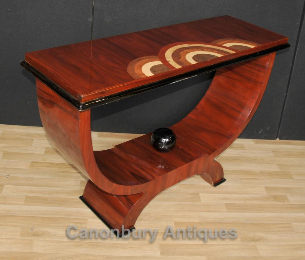Rosewood Art Deco Oggee Console Table 1920s Furniture Hall Tables