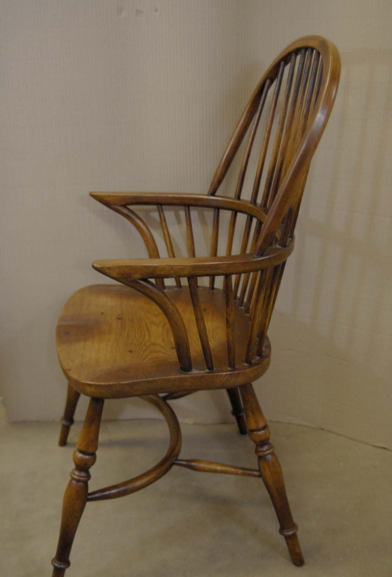 8 Farmhouse English Windsor Dining Chairs Oak