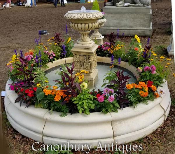 english garden fountains water features English Stone Garden Fountain Doulton Urn Water Feature