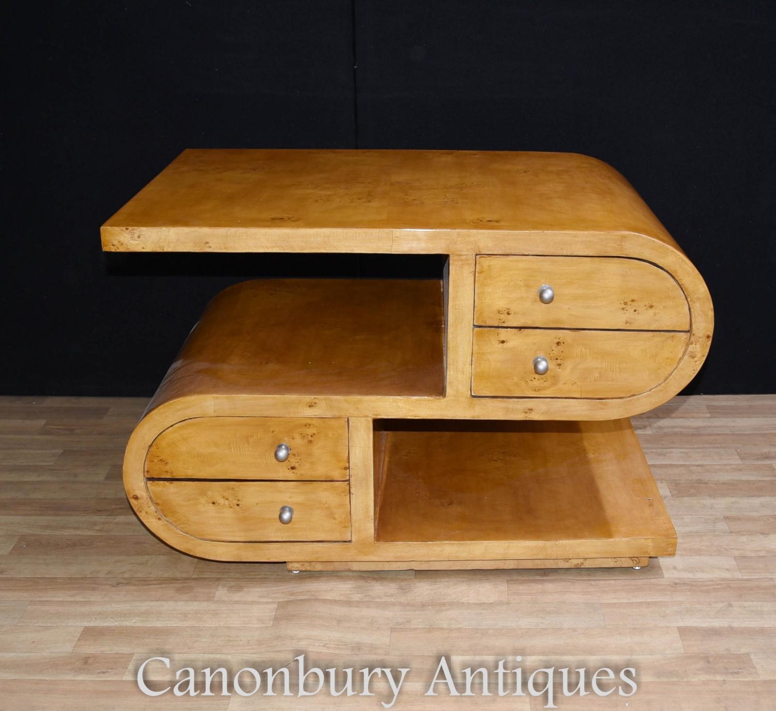 art deco coffee table s shape tables