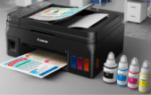 The G4600 uses the same ink tanks in the same locations and filled by the same ink bottles as the G3600. It also delivers the same print speed and resolution (up to 4800 by 1200 dpi), and optical scanning resolution (600 by 1200 dpi). The G3600 was pretty snappy on getting out business quality prints and copies, and somewhat slower on high resolution photos. Quality is worth waiting for.