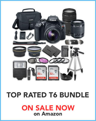 Canon T6 Bundle deal on Amazon