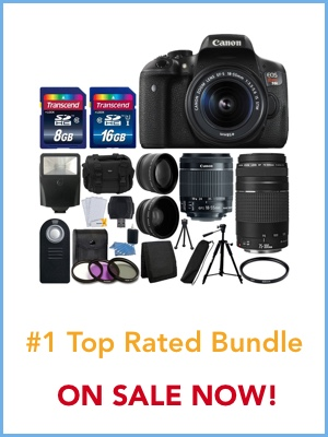 top rated Canon T6i bundle