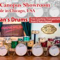 Canopus showroom Drugan's Drums