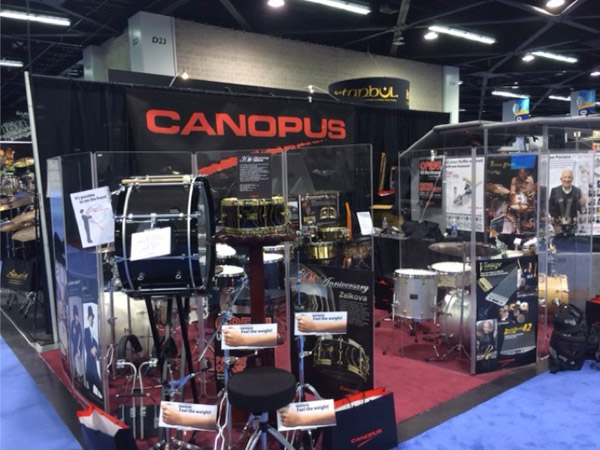 NAMM 2016 Canopus booth