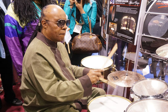Stevie Wonder has his own Canopus drums!