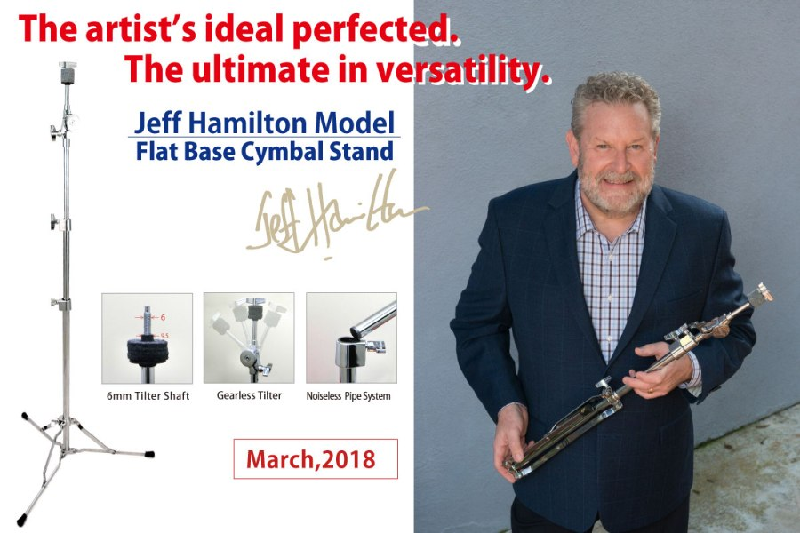 Flat Base Cymbal Stand Jeff Hamilton Model