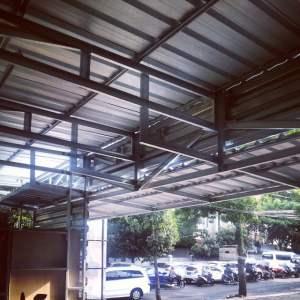 kanopi baja ringan atap baja ringan kota bandung jawa barat