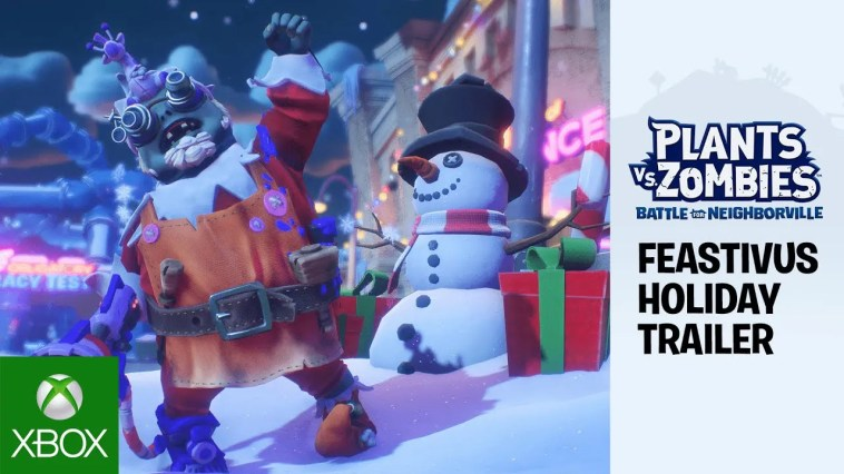Plants vs. Zombies: Battle for Neighborville – Feastivus Holiday Trailer ft. Sir Patrick Stewart