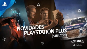MODO PLAYSTATION (SNACK #7) | NOVIDADES PLAYSTATION PLUS (ABRIL 2020)